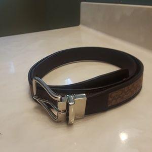 Coach Signature Belt (Unisex)